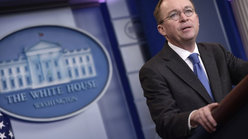 Mulvaney Says Open Government Now and Then Discuss Larger Issues
