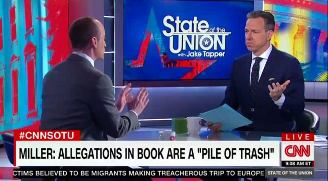 Jake Tapper Cuts off Stephen Miller on CNN