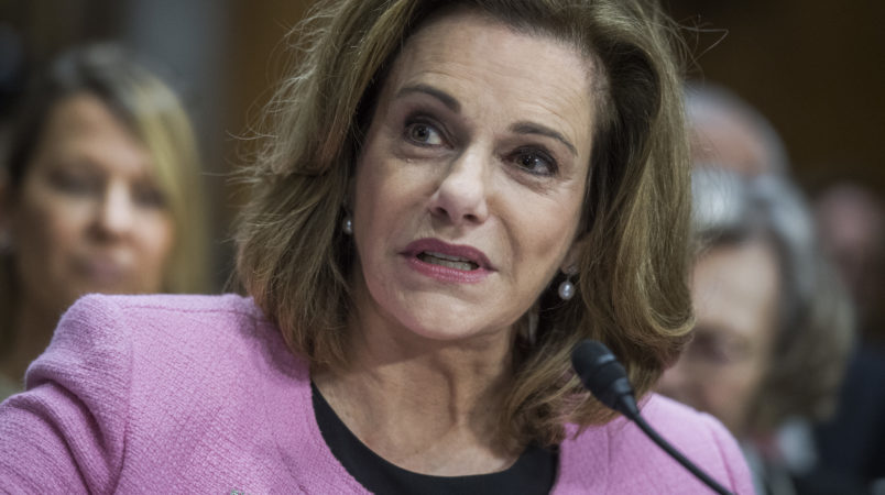 UNITED STATES - JULY 20: K.T. McFarland, nominee to be ambassador to Singapore, attends her Senate Foreign Relations Committee confirmation hearing in Dirksen Building on July 20, 2017. (Photo By Tom Williams/CQ Roll Call)