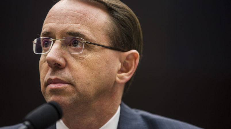 Trump May Remove Rosenstein — WashPost