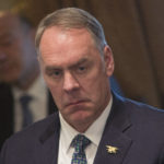 U.S. Secretary of the Interior Ryan Zinke listens during a Cabinet meeting at The White House in Washington, DC, December  20, 2017. Credit: Chris Kleponis / Polaris