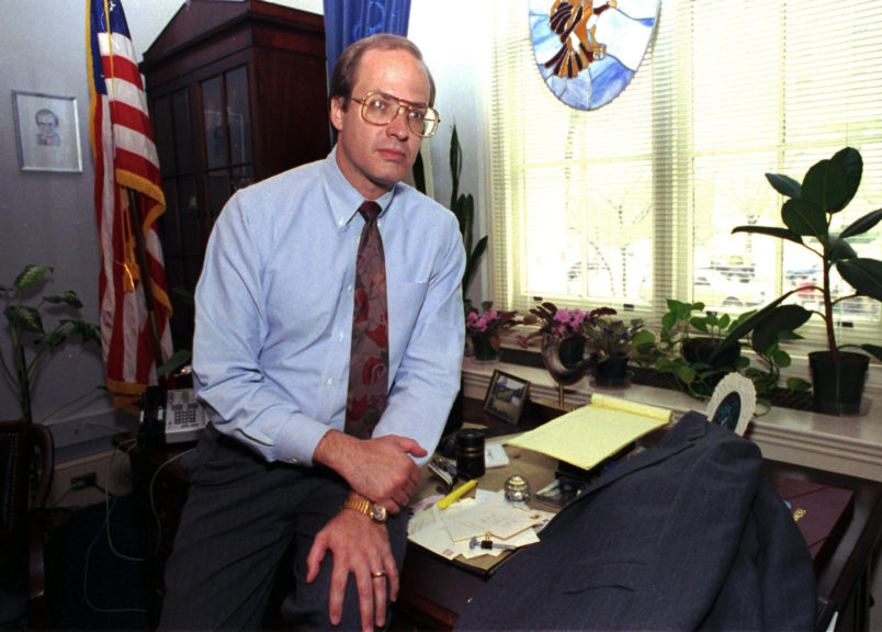Rep. Vin Weber of Minnesota at his Washington office, April 16, 1992.(AP PHOTO)