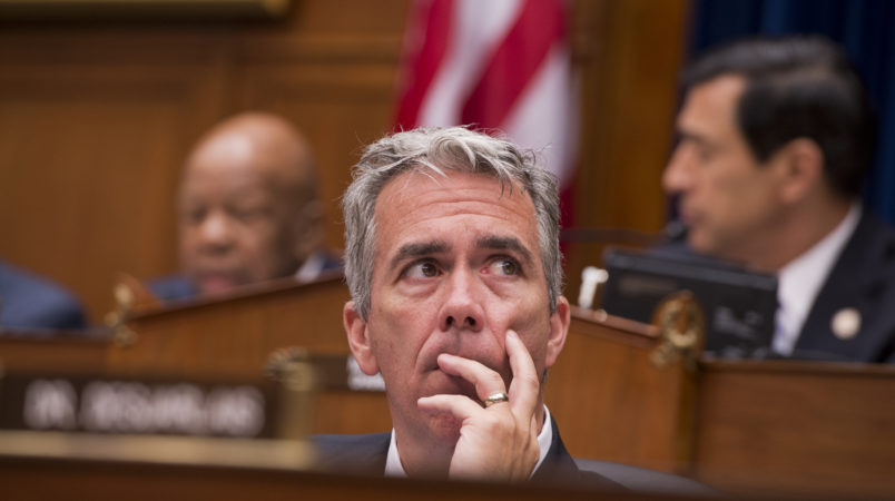 UNITED STATES - JUNE 20:  Rep. Joe Walsh, R-Ill., attends a House Oversight and Government Reform Committee hearing in Rayburn to consider a contempt of Congress vote for Attorney General Eric Holder.  Chairman Darrell Issa, R-Calif., believes Holder has not produced sufficient documents relating to the investigation of Operation Fast and Furious, which allowed guns intended to be traced to criminals in Mexico, to be used in murders across the border. (Photo By Tom Williams/CQ Roll Call)