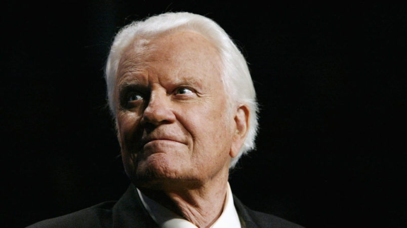 OKLAHOMA CITY - JUNE 12:  (NO U.S. TABLOID SALES NO TIME OR US NEWS)  Evangelist Billy Graham looks on at a Billy Graham rally on June 12, 2003 in Oklahoma City, Oklahoma.  (Photo by David Hume Kennerly/Getty Images) *** Local Caption *** Billy Graham
