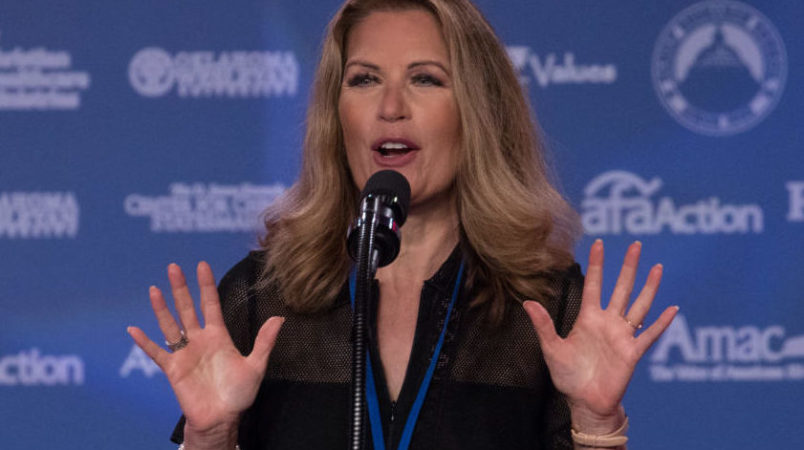 Rep. Michele Bachmann, speaks at the 2017 Values Voter Summit, at the Omni Shoreham Hotel in Washington, D.C., on Friday, October 13, 2017. (Photo by Cheriss May) (Photo by Cheriss May/NurPhoto)