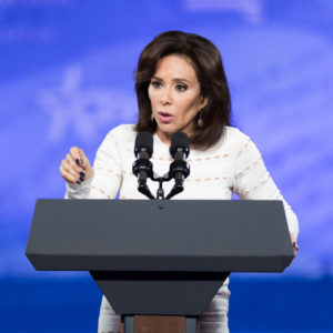 NATIONAL HARBOR, MD, UNITED STATES - 2017/02/23: Jeanine Pirro speaking at  the American Conservative Union's 2017 Conservative Political Action Conference (CPAC). (Photo by Michael Brochstein/SOPA Images/LightRocket via Getty Images)