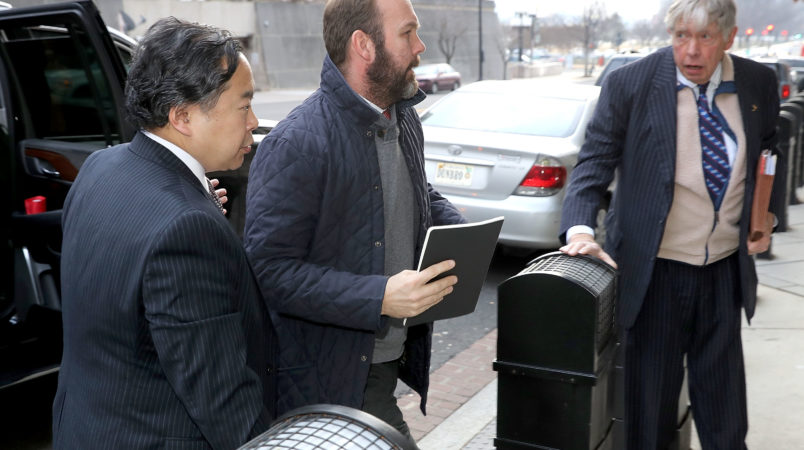 Former Trump campaign manager Paul Manafort and his wife Kathleen arrive at the Prettyman Federal Courthouse January 16, 2018 in Washington, DC. Manafort and his former business partner Richard Gates both pleaded not guilty last year to a 12-charge indictment that included money laundering and conspiracy.