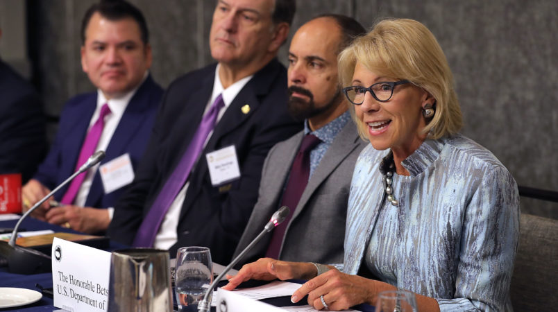 Devos: Congress 'Has To Lead' The Response To Shootings, 'It's Their Job'