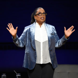 speaks onstage during Oprah's Super Soul Conversations at The Apollo Theater on February 7, 2018 in New York City.