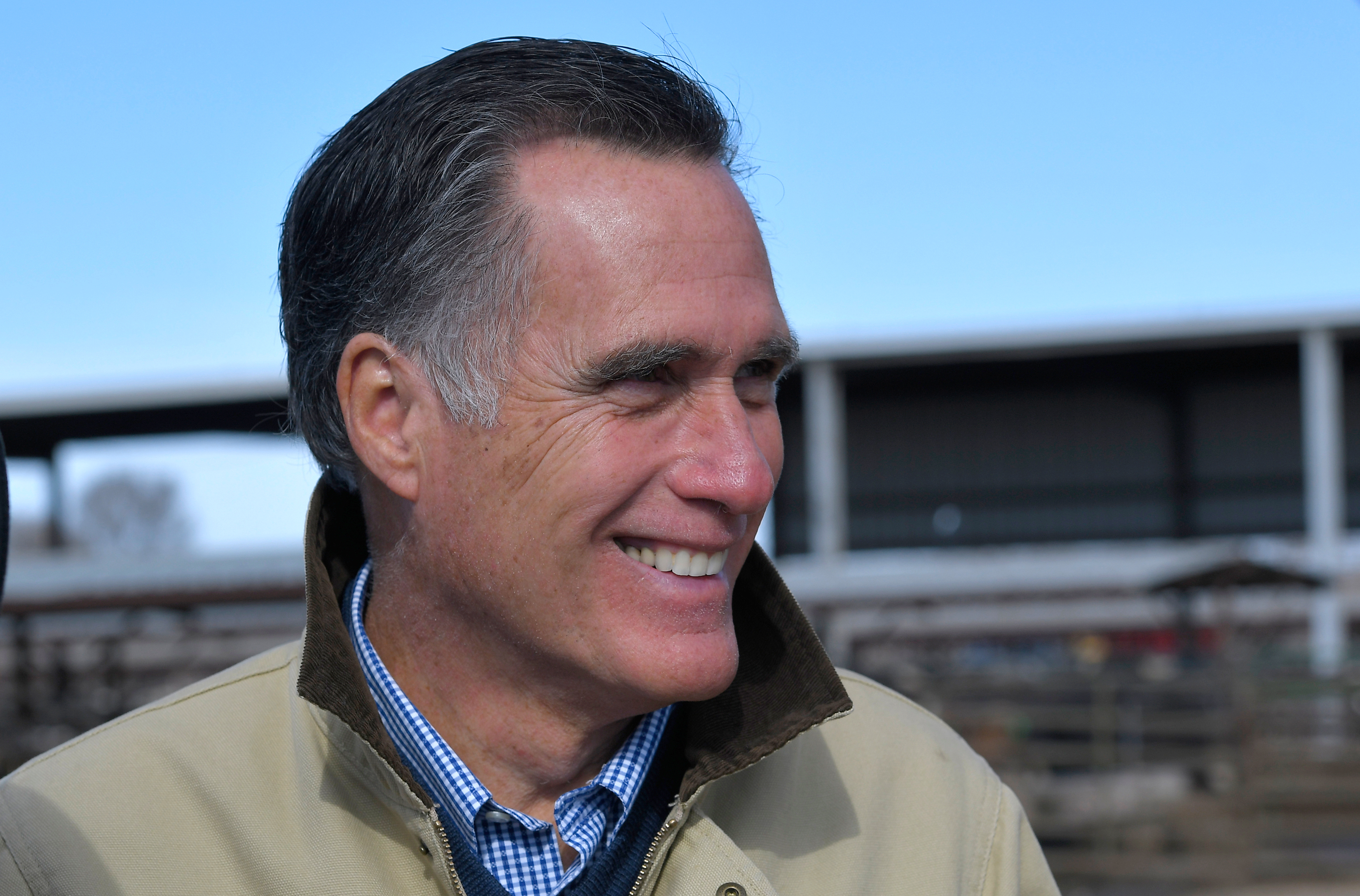 OGDEN, UT - FEBRUARY 16: Candidate for senate Mitt Romney tours Gibson's Green Acres Dairy on February 16, 2018 in Ogden, Utah. Mr. Romney is running for a U.S. Senate seat from Utah, currently held by Sen. Orrin Hatch, who announced his retirement after the current term expires. (Photo by Gene Sweeney Jr./Getty Images) *** Local Caption *** Mitt Romney