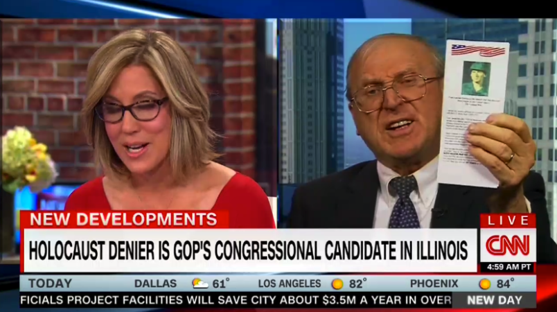 CNN host slams Holocaust denying congress candidate: 'You're going down in flames.'