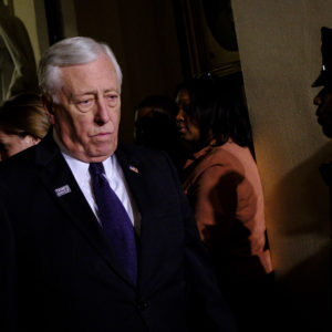 WASHINGTON, DC - January 30:  House Minority Whip Steny Hoyer (D-MD) leaves  the House of Representatives Chamber after President Donald Trump's first State of the Union Address before a joint session of Congress on January 30, 2018 in Washington, DC.  (Photo by Pete Marovich/Getty Images)