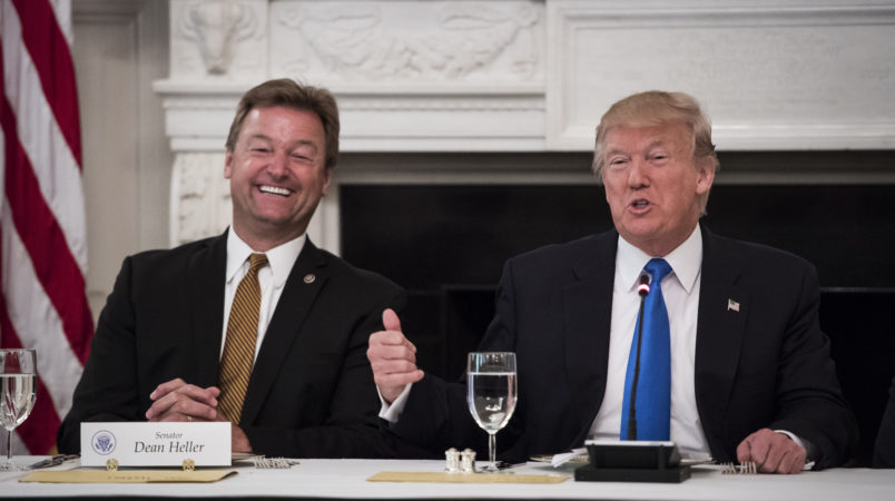 Nevada Sen. Heller thanks Trump for support