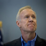 Illinois Gov. Bruce Rauner attends a bill signing on Thursday, Aug. 24, 2017 at the Safer Foundation North Lawndale Adult Transition Center. (Brian Cassella/Chicago Tribune/TNS)
