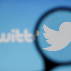 A Twitter logo is seen on a computer screen on November 20, 2017. (Photo by Jaap Arriens/NurPhoto)