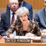 NEW YORK, NY, UNITED STATES - 2017/09/20: British Prime Minister Theresa May addressing the Security Council at the United Nations in New York City. (Photo by Michael Brochstein/SOPA Images/LightRocket via Getty Images)