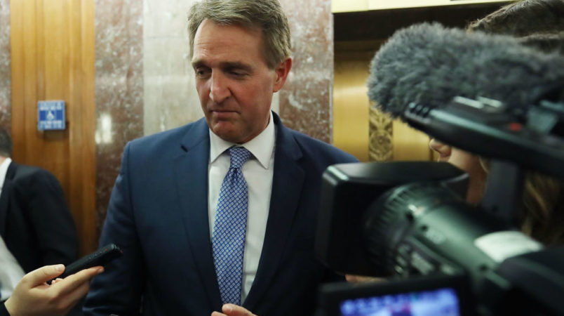 Sen. Jeff Flake threatens Trump with impeachment if he fires Mueller