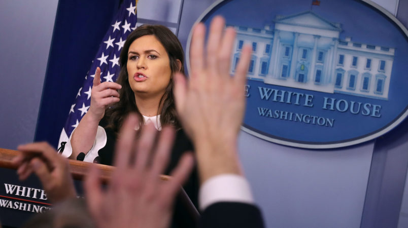 Sarah Sanders on White House morale: 'We are in a great place'
