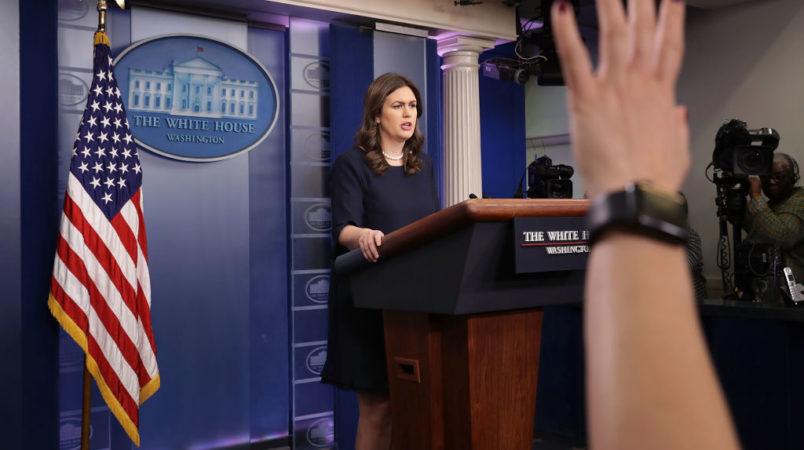 Sarah Huckabee Sanders bungles Trump's porn-star trouble