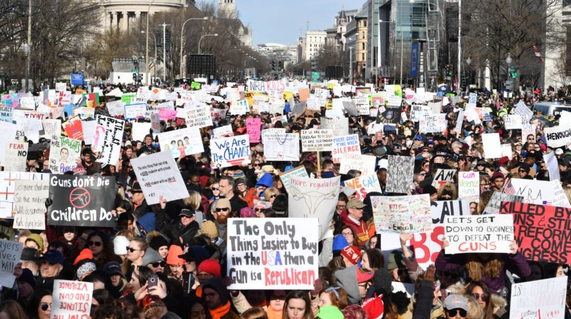 Teens made up just 10% of March for Our Lives crowd