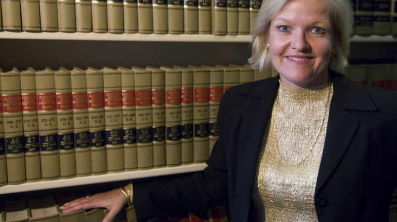 Cleta Mitchell, Esq., of Foley & Lardner, LLP, poses in the firm's law library on Tuesday, Sept. 11, 2007.