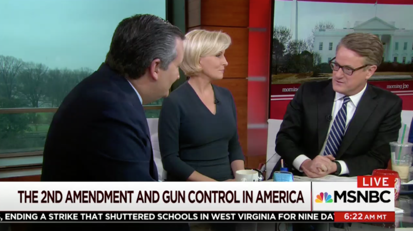 Scarborough Accuses Cruz of 'Talking Down' to Him While Defending Second Amendment
