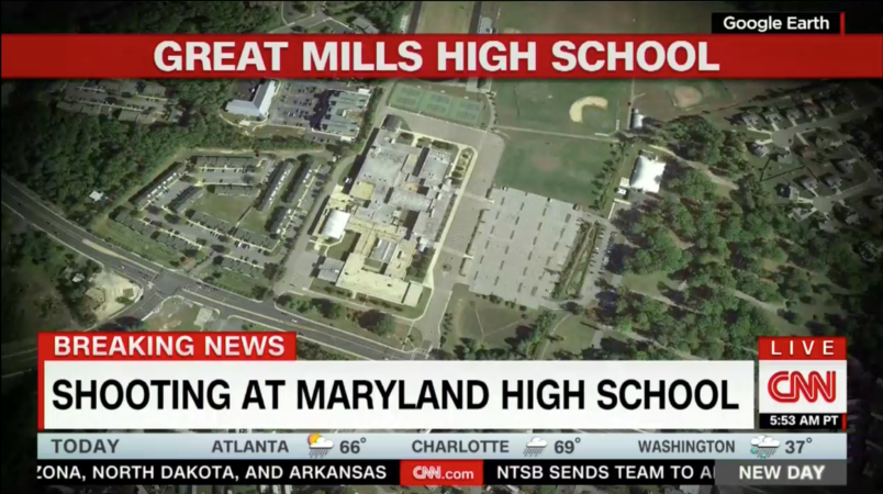 Shooter injures two schoolmates in Maryland, dies after exchange of fire