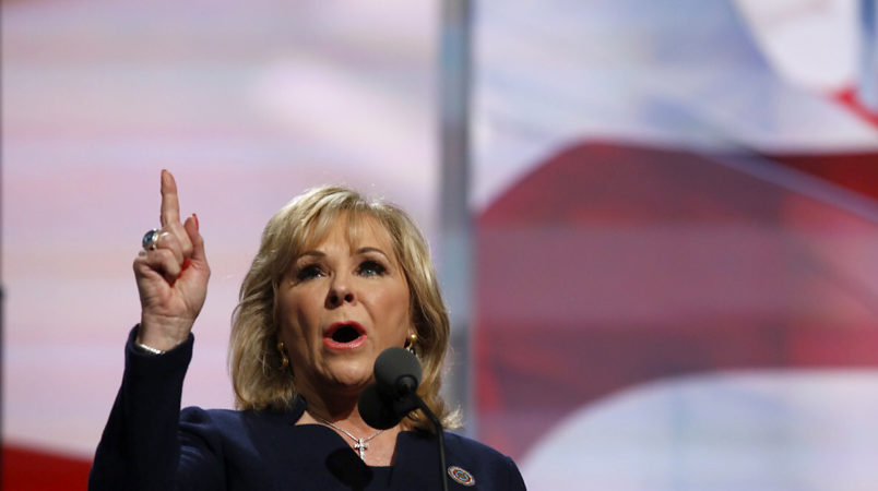 Gov. Mary Fallin of Oklahoma speaks during the final day of the 2016 Republican National Convention at Quicken Loans Arena in Cleveland, Ohio, July 21, 2016
