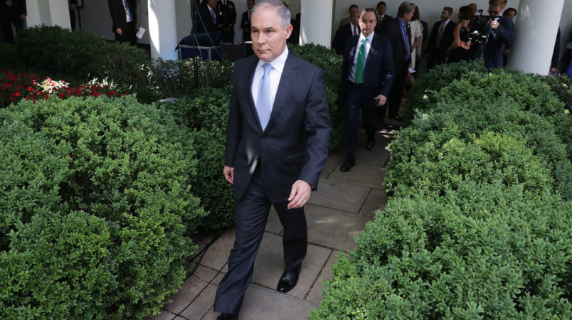 Trump Told EPA Chief Scott Pruitt 'We Have Your Back'