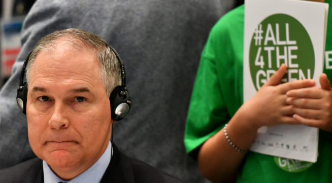 Scott Pruitt Got 'Bullet-Resistant' Seat Covers For His SUV