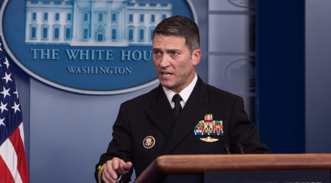 WH Stands Behind Ronny Jackson As Senate Committee Eyes Allegations