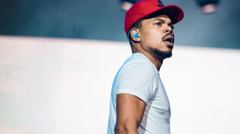 SAO PAULO, BRAZIL - MARCH 23: Chance the Rapper performs live on stage during the first day of Lollapalooza Brazil at Interlagos Racetrack on March 23, 2018 in Sao Paulo, Brazil. (Photo by Mauricio Santana/Getty Images) *** Local Caption *** Chance the Rapper