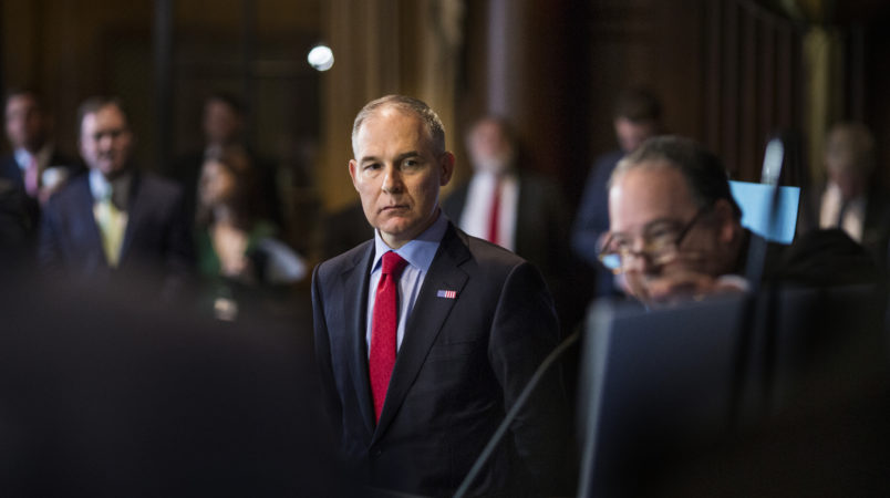 Pruitt wanted to highlight his name on EPA memorabilia