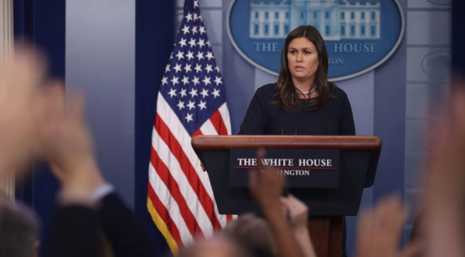 White House: 'Ridiculous To Suggest' Trump Has Hurt Freedom Of The Press