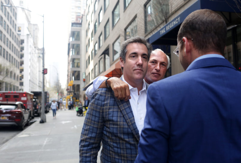 NEW YORK, NY - APRIL 13: Michael Cohen, President Donald Trump's attorney, walks to the Loews Regency hotel on Park Ave on April 13, 2018 in New York City. Following FBI raids on his home, office and hotel room, the Department of Justice announced that they are placing him under criminal investigation. (Photo by Yana Paskova/Getty Images)