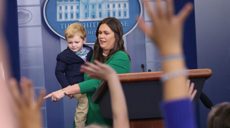 Sarah Sanders Stops A Journo Meltdown Before It Even Starts