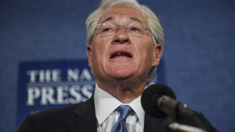 WASHINGTON, DC - JUNE 8: Marc E. Kasowitz, attorney for President Donald Trump, makes a statement to the media during a press conference at the National Press Club on June 8, 2017 in Washington, D.C. (Photo by Ricky Carioti/The Washington Post)