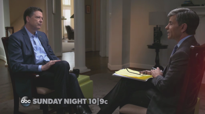 ABC Preview Of Interview With Comey Suggests He Likened Trump To A 'Mob Boss'