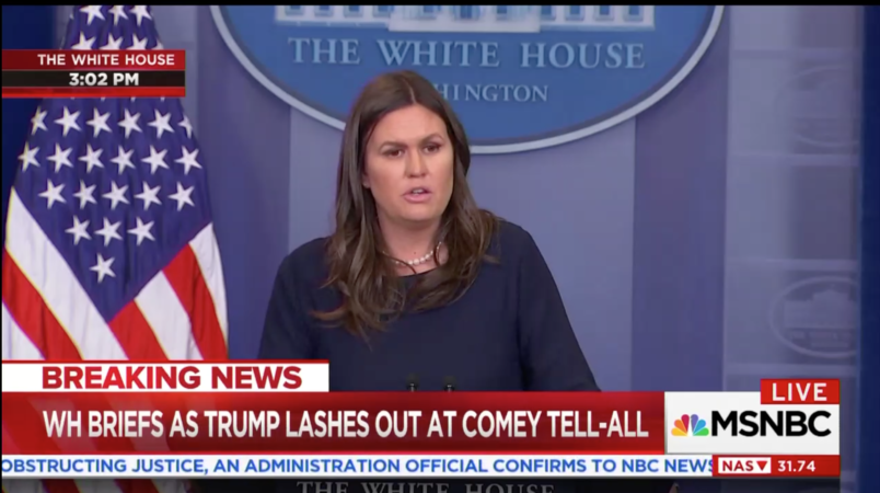 Sanders: Comey's Book Belongs In The 'Bargain Bin Of The Fiction Section'