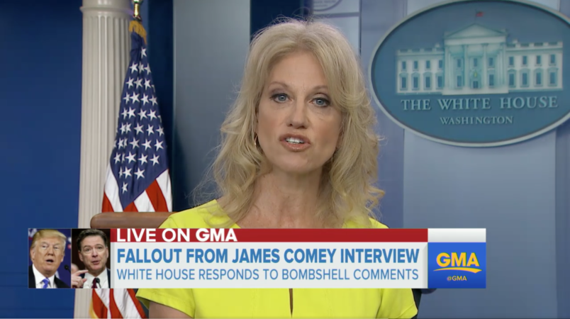 Kellyanne Conway once defended Comey against an 'all-out assault' she's now launching