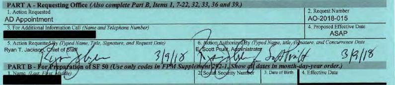 Docs Show EPA Chief Of Staff Authorized Huge Raises On Pruitt's Behalf