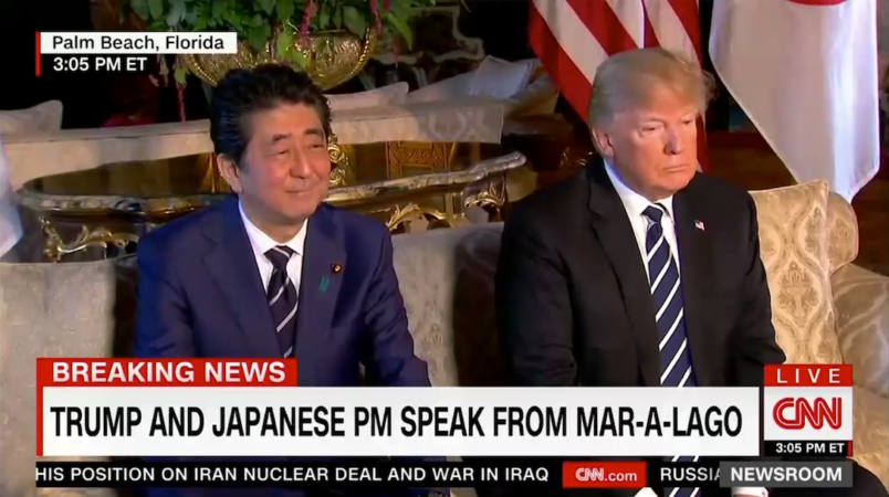 Trump, Japan's Abe Agree to Heighten Trade Talks