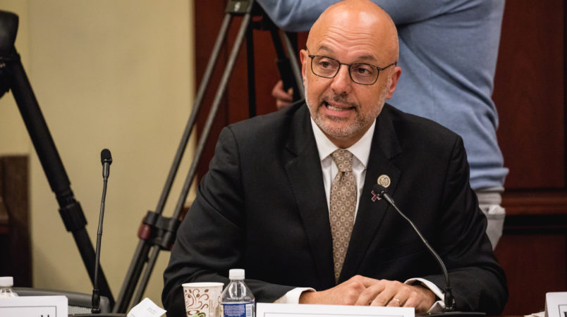 Rep. Ted Deutch (D-FL 21st District), speaks at a forum to examine evidence-based violence prevention and school safety measures. The forum was held on Capitol Hill in Washington, D.C., on Tuesday, March 20, 2018. (Photo by Cheriss May) (Photo by Cheriss May/NurPhoto)