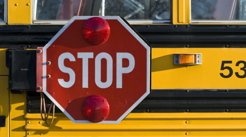 UNITED STATES- 2008/10/27 School bus with retracting safety stop sign