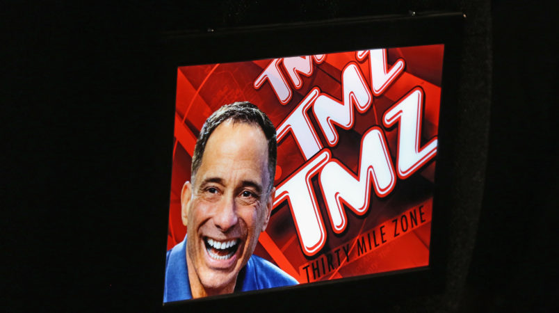 TMZ Founder Harvey Levin (L) and actress Tara Reid attend the launch party for IGT's TMZ Video Slots at the Hard Rock Hotel & Casino on August 28, 2016 in Las Vegas, Nevada.