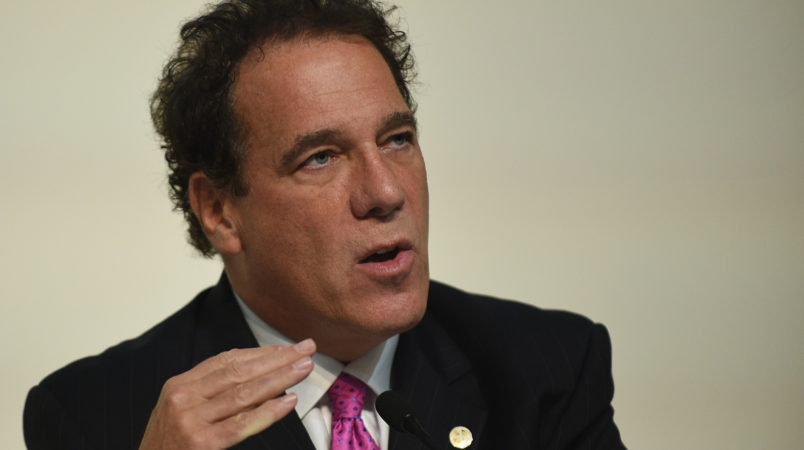 GERMANTOWN, MD - OCTOBER 14: Kevin Kamenetz is one of six of the candidates for the Maryland gubernatorial Democratic nomination who present their political agenda during a forum at Montgomery College in Germantown, MD, October 14, 2017. Candidates answered questions on issues important to Marylanders, such as health care, the environment, education and many others. (Photo by Astrid Riecken For The Washington Post)