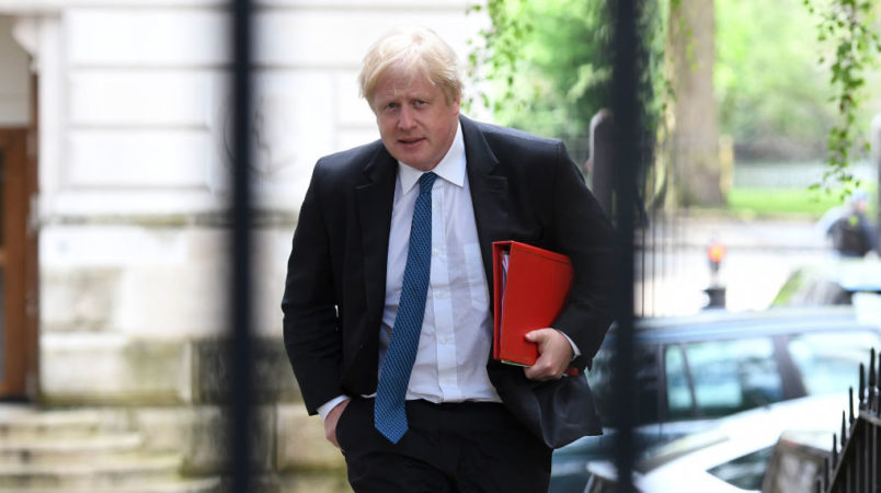 Cabinet Meets To Discuss Post-Brexit Customs PlansLONDON, ENGLAND - MAY 02: Boris Johnson the U.K. Foreign Secretary arrives at 10 Downing Street as the Cabinet meet to discuss post-Brexit customs plans on May 2, 2018 in London, England. (Photo by Steve Back/Getty Images) ***Local Caption *** Boris Johnson