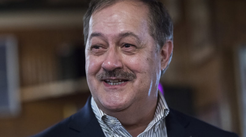 UNITED STATES- MAY 3 Don Blankenship who is running for the Republican nomination for Senate in West Virginia conducts a town hall meeting at Macado's restaurant in Bluefield