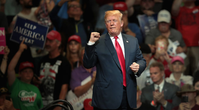 At Rally, Trump Suggests That He Get An 'Extension For The Presidency'