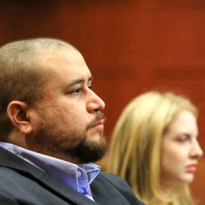 George Zimmerman waits to address the court before the sentencing of Matthew Apperson at the Seminole County Criminal Justice Center on Monday morning, Oct. 17, 2016 in Sanford, Fla. (Jacob Langston/Orlando Sentinel/TNS)